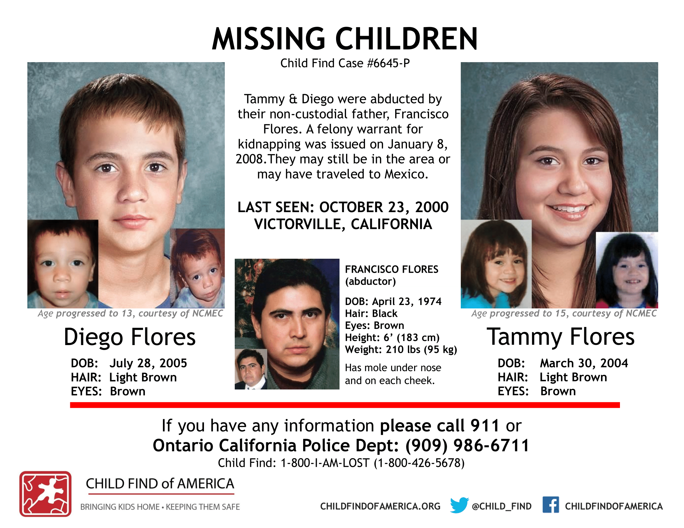 Missing Children Posters - Child Find of America